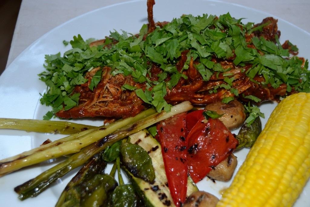 Pulled Pork Cascabel Salsa Corn Antipasti 1